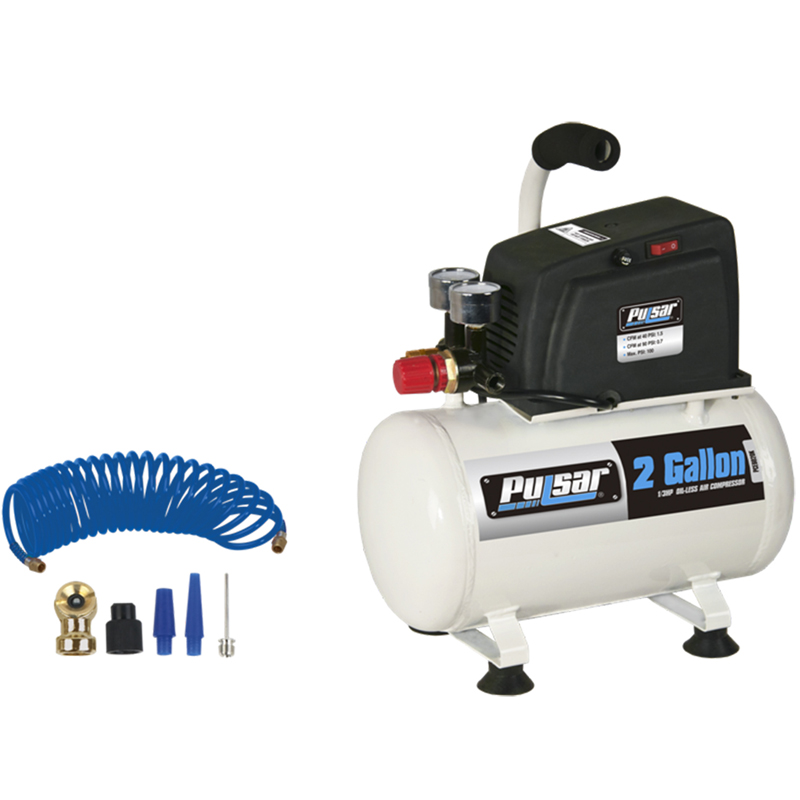 2 gallon horizontal air compressor