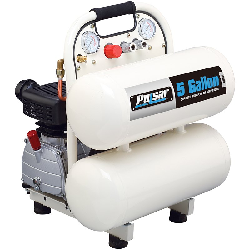 5 gallon twin tank air compressor
