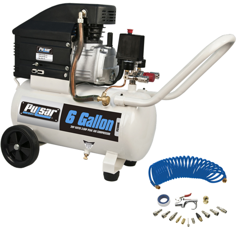 Pulsar 6 gallon air compressor with kit