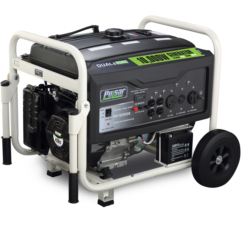 10000 watt dual fuel generator view 1