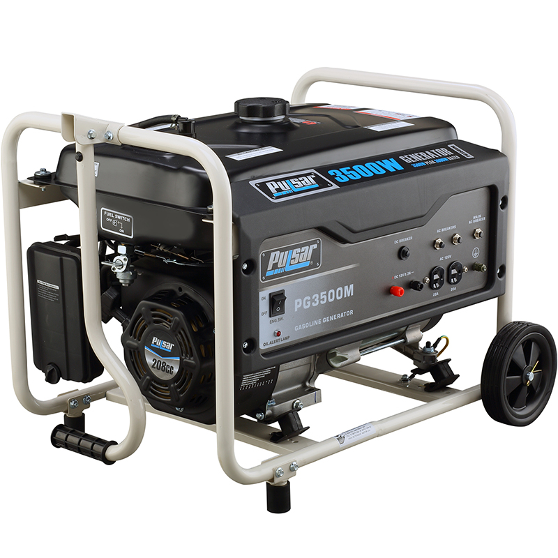 3500 watt gasoline generator with mobility kit