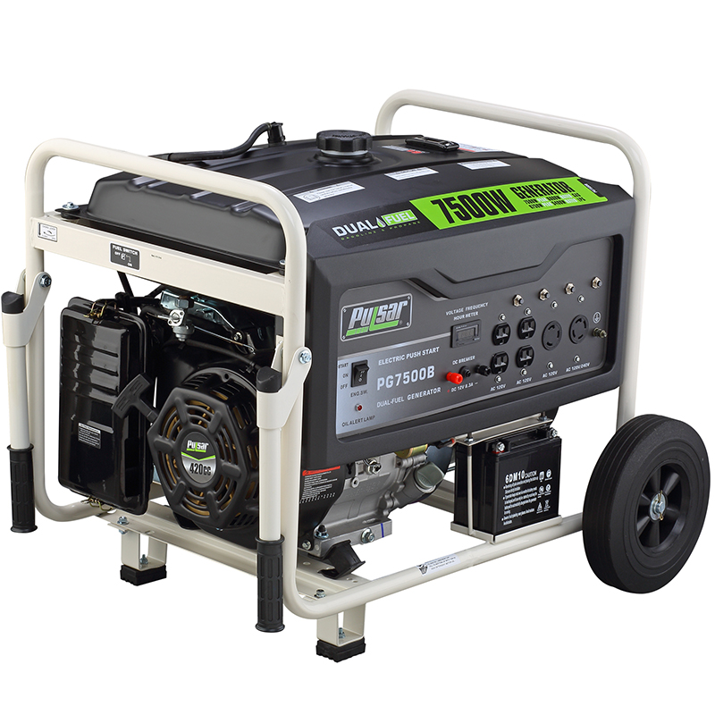 7500 watt dual fuel generator