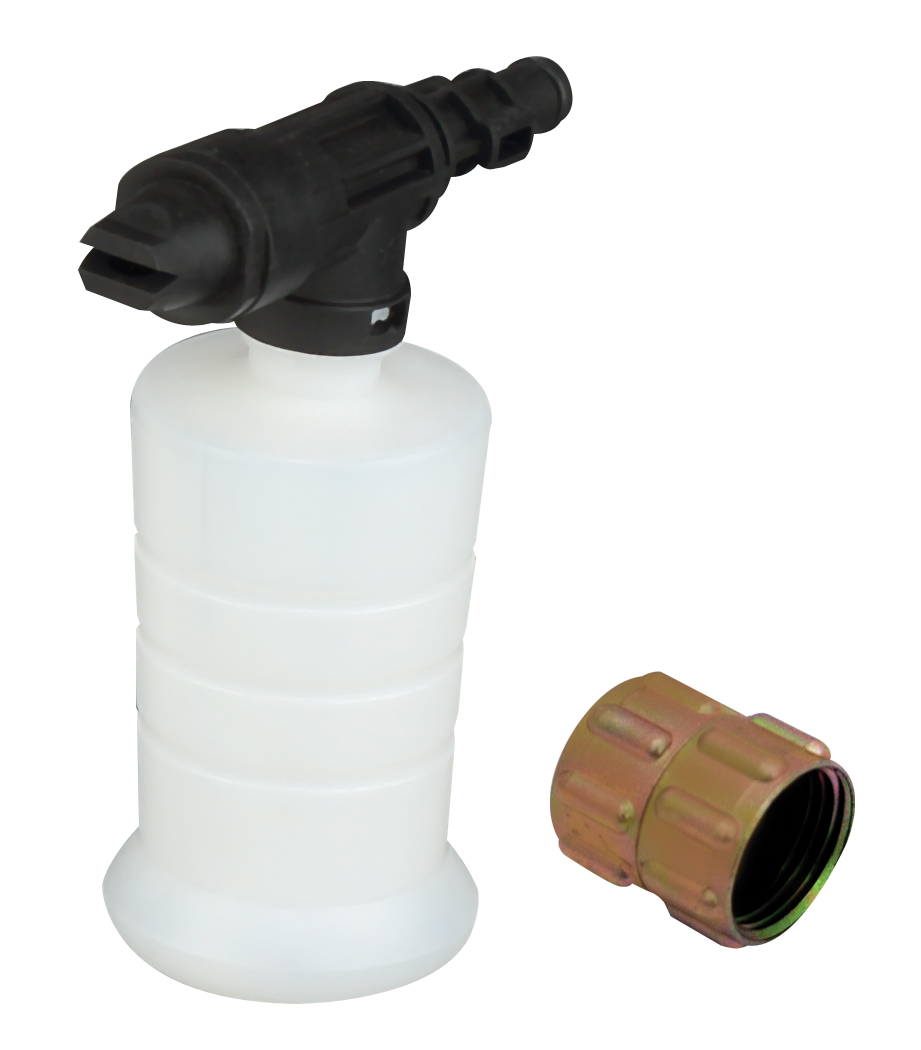 Soap bottle and connector for pressure washer